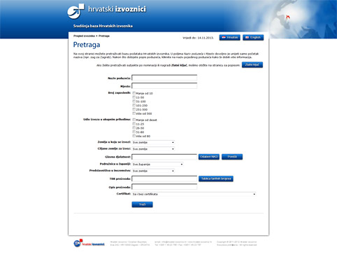 Croatian Exporters Association database