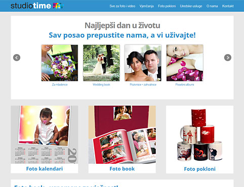 Foto studio Time web shop